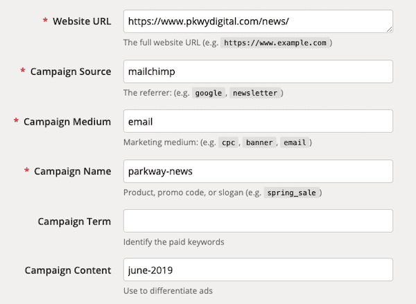 Adding parameters to a URL